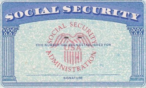 Social Security Card Template by Social Security Card Template Peerpex