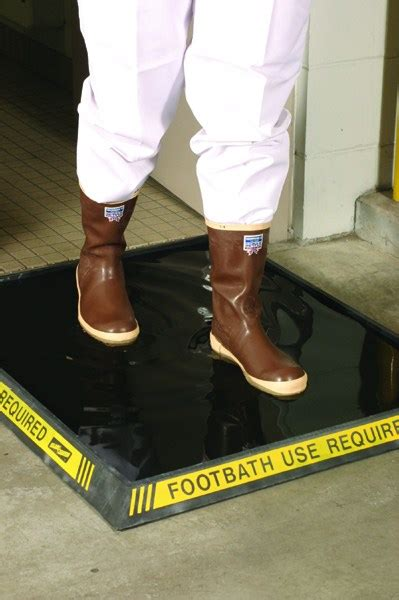Disinfectant Mat For Cleaning Shoes - standard high wall disinfectant foot mat