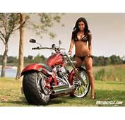 Motorcycle Babe Alex Zerega With Big Dog Motorcycles
