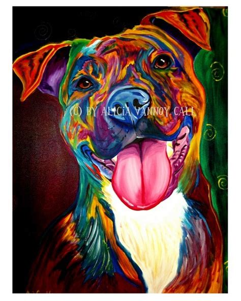 colorful dogs colorful painting
