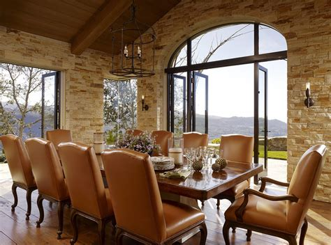 Mediterranean Dining Room by Hilltop Retreat Mediterranean Dining Room San