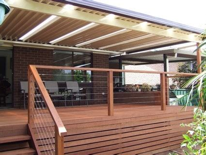 Timber Patios by Opening Roof Timber Decking Carports Gallery