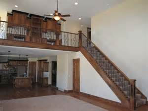 Decorating Banisters Wood Railing With Wrought Iron Balusters Traditional