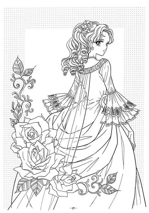 Coloring Pages For Adults Victorian | victorian woman fashion dress adult coloring pages