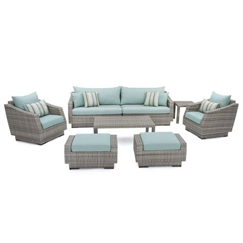 Rst Patio Furniture Rst Brands Cannes 8 Piece Patio Seating Set With Bliss
