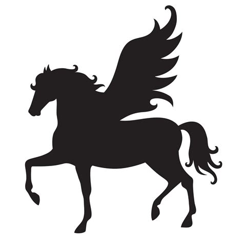 printable stencils of horses pegasus stencil for glitter tattoos for horses