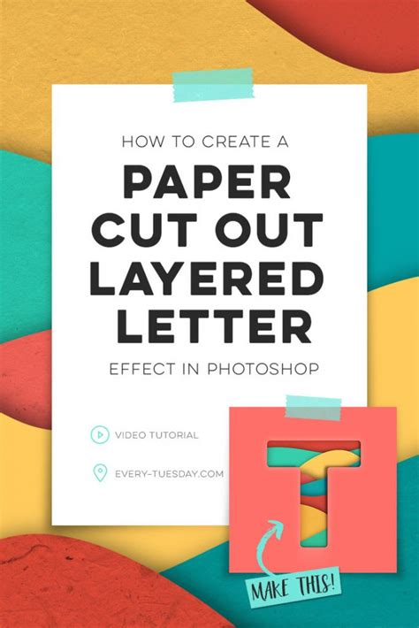 How To Make A Letter Out Of Paper - how to create a paper cut out layered letter every tuesday