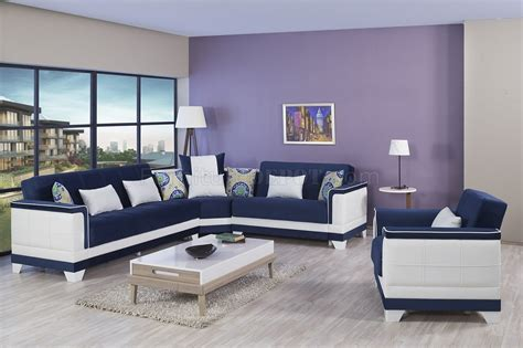 seasons sectional sofa bed  blue  casamode woptions