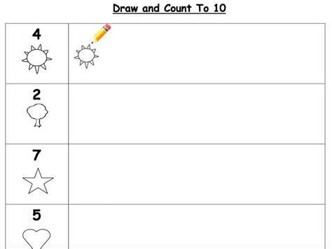 Count And Draw Worksheets by Early Years Maths For Early Years Teaching Resources