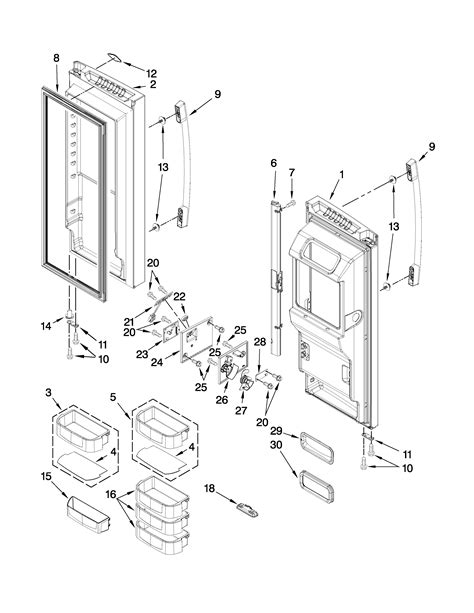 whirlpool refrigerator parts diagram whirlpool