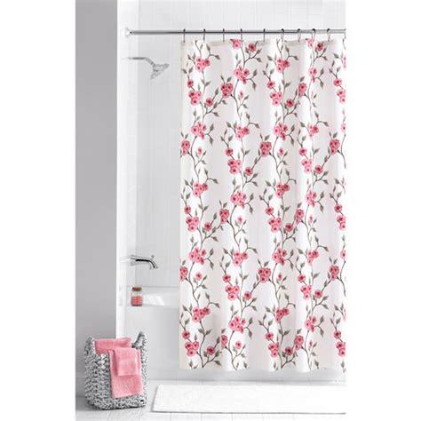 floral shower curtain hooks mainstays multi color amelia 13 piece floral shower