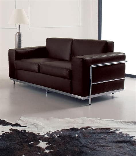 sofa steel frame cook 2 seater modern leather sofa shop online italy