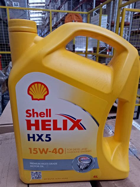 Oli Shell Hx5 15w 50 Galon 4 Liter shell helix hx5 4 l 15w 40 1 galon sejahtera distributor oli shell helix distributor