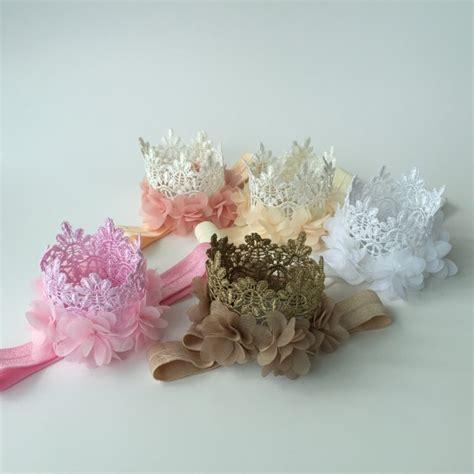 aliexpress buy multi colors mini felt glitter lace crown headbands with pretty chiffon