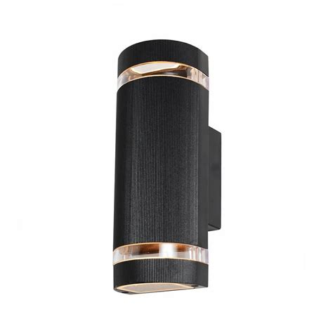 garden wall lights patio holme large up black outdoor wall light from