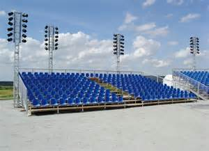Layer stadium bleachers grandstand for big sports square from china