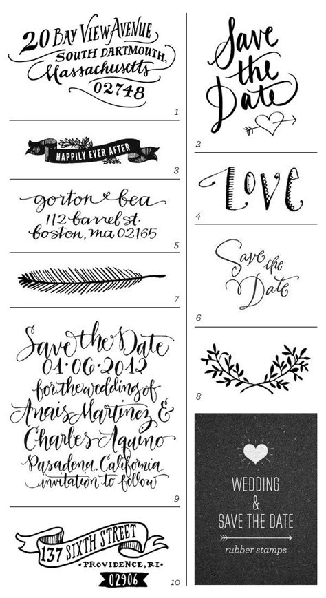 Kr Wedding Font by Wedding Save The Date Rubber Sts Stickers Sts