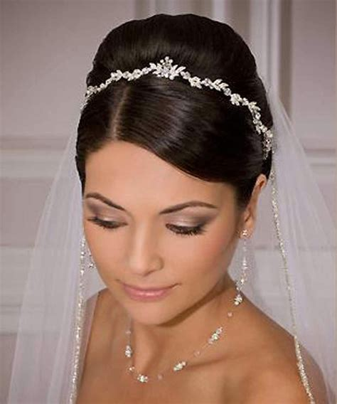 Hairstyles With Tiara by Wedding Hair Tiara Hairstylegalleries