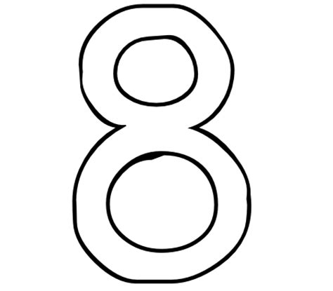 coloring pages for number 8 best photos of printable number 8 large printable