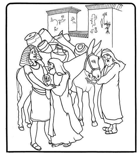 coloring pages for joseph in egypt joseph in egypt coloring sheet coloring pages