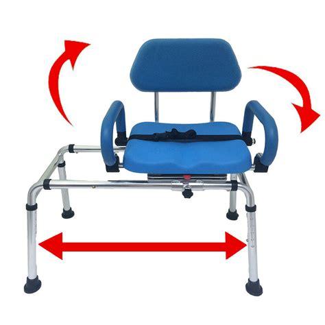 transfer chair for shower carousel sliding transfer bench swivel seat padded bath