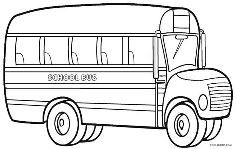 coloring page for bus printable school bus coloring page for kids cool2bkids