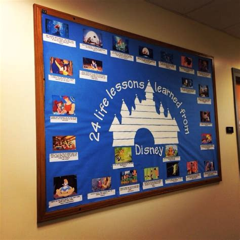 Disney Classroom Decorations by Quot 24 Lessons Learned From Disney Quot Bulletin Board