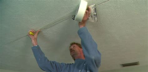 Filling Cracks In Plaster Ceiling by How To Repair Cracks In A Drywall Ceiling Today S Homeowner