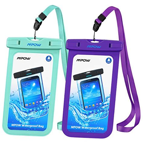 Universal Waterproof Smartphone Pouch Size M Purple mpow universal waterproof ipx8 waterproof phone pouch bag for iphone7 7plus 6s 6 6s