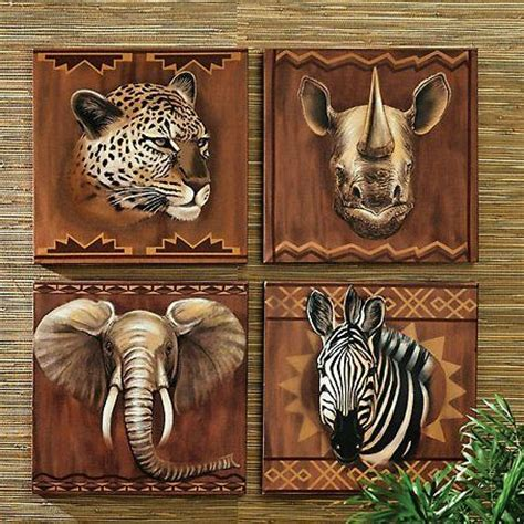 safari wall decor for living room africa themed on abstract safari animals and safari bedroom