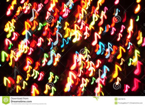 music note on christmas light stock illustration image