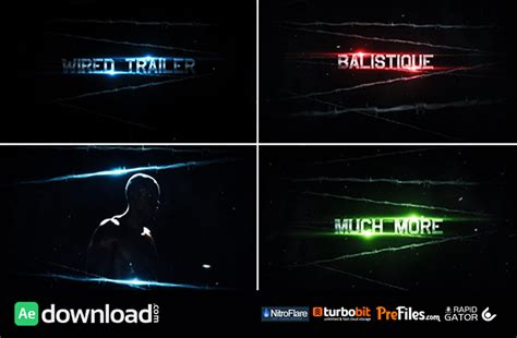 templates after effects videohive videohive the wired trailer free download free after