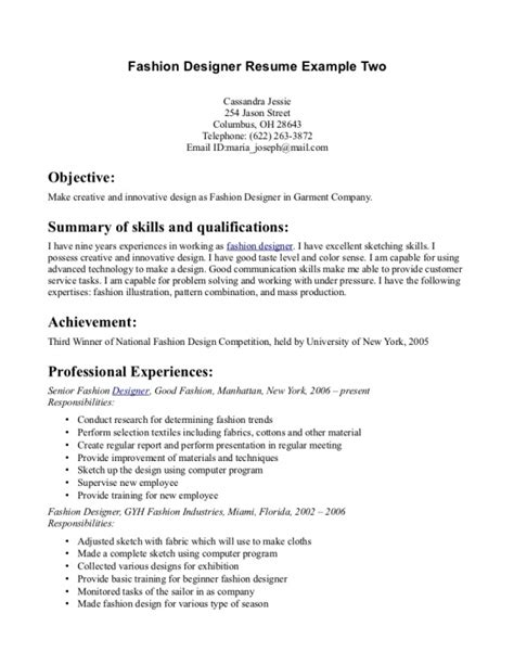 fashion internship resume sle best textile designer resume sle graphic designer