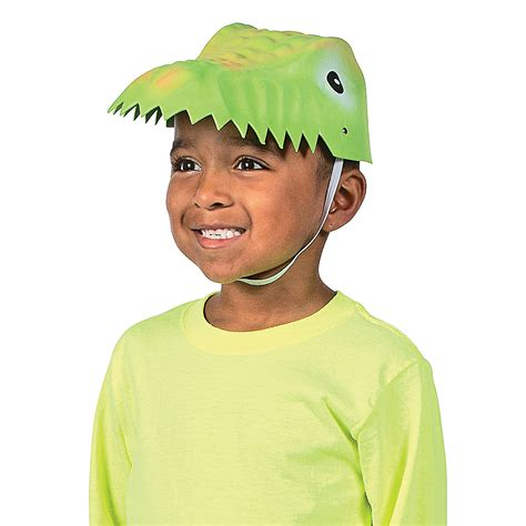 How To Make A Dinosaur Hat Out Of Paper - child s molded dinosaur hats novelty hats hats caps