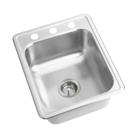 elkay stainless steel sinks elkay dayton drop in stainless steel 17 in 3 hole bar