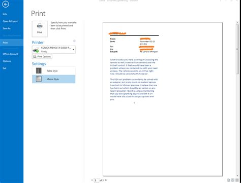 print layout view outlook 2013 problems with print layout in outlook 2013 microsoft