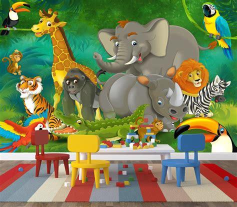 Stores Like Home Decorators Jungle Cartoon Wall Mural Home Design Blog Ideas Kidsroom