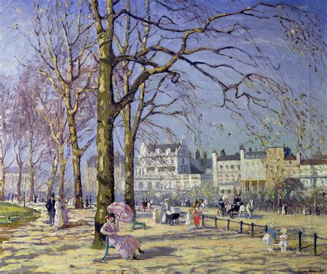 Decor Wonderland Spring In Hyde Park Painting By Alice Taite Fanner