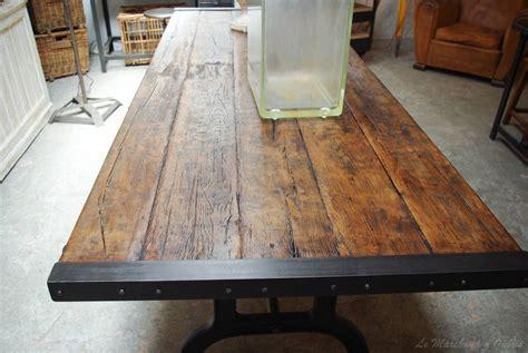 Plateau Bois Brut Pour Table 793 by Table Industrielle Par Le Marchand D Oublis