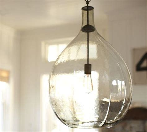 Pottery Barn Pendant Lights Clift Glass Pendant Pottery Barn