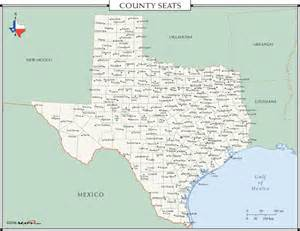county seat map county seats