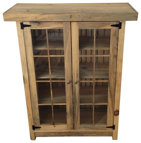 Rustic Bookcase With Doors Reclaimed Bookcase With Glass Doors Rustic Bookcases By Reclaimed Secrets