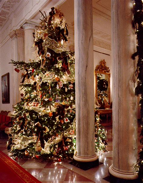 Traditional Master Bedroom - the white house christmas tour