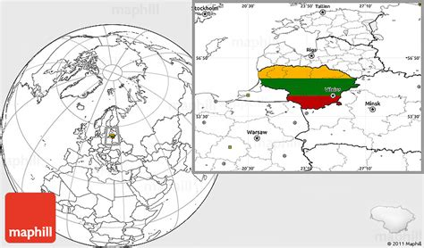 lithuania location on world map flag location map of lithuania blank outside