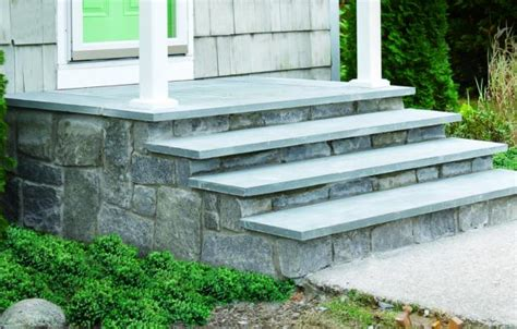 Non Slip Bathroom Flooring Ideas by How To Clad Concrete Steps In Stone This Old House