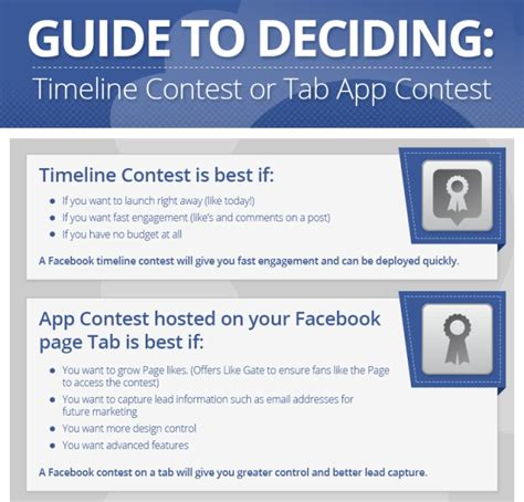 facebook contest guide how to choose between timeline