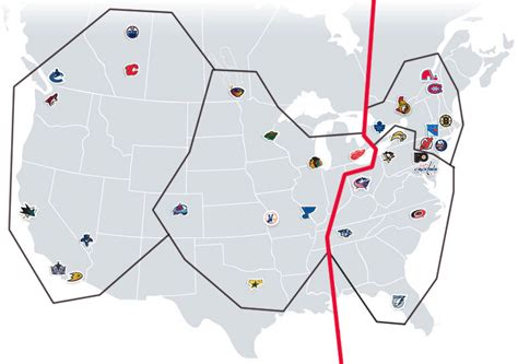nhl map the nhl realignment project nhl realignment maps the home of the nhl realignment project