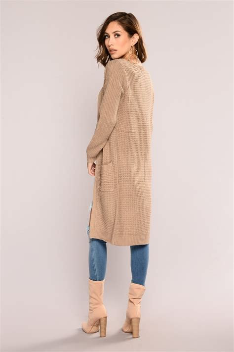 Abella Knit abella duster sweater khaki