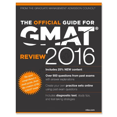 Mba Store Gmac by The Official Guide For Gmat Review 2016 With Question Bank