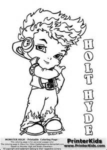 monster high holt hyde baby cool and cute chibi coloring page sketch template
